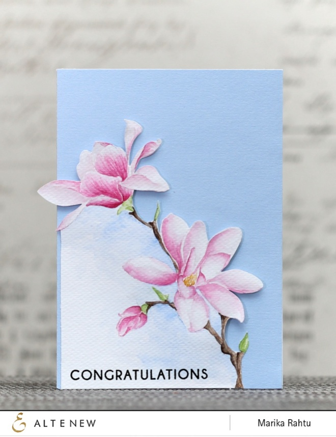Stamp set used: Magnolias for Her.