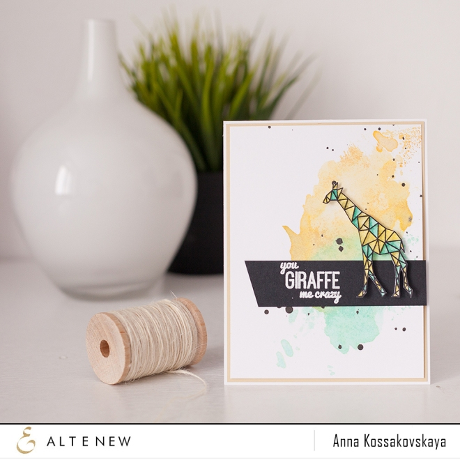 You giraffe me crazy @akossakovskaya @altenew #altenew #cardmaking