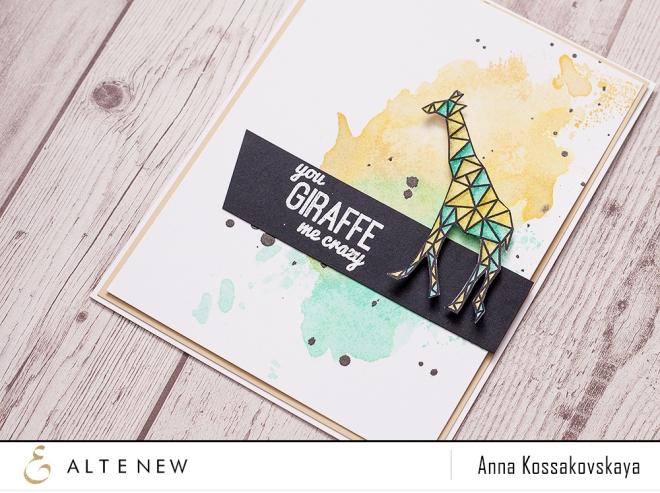 You giraffe me crazy @akossakovskaya @altenew #altenew #cardmaking