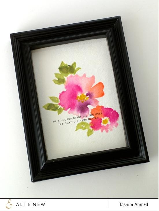 Watercolor Wonders frame art