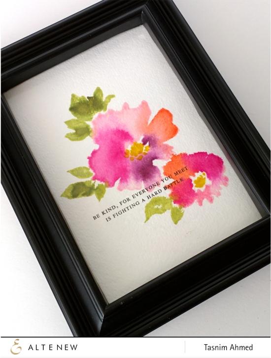 Watercolor Wonders frame art -