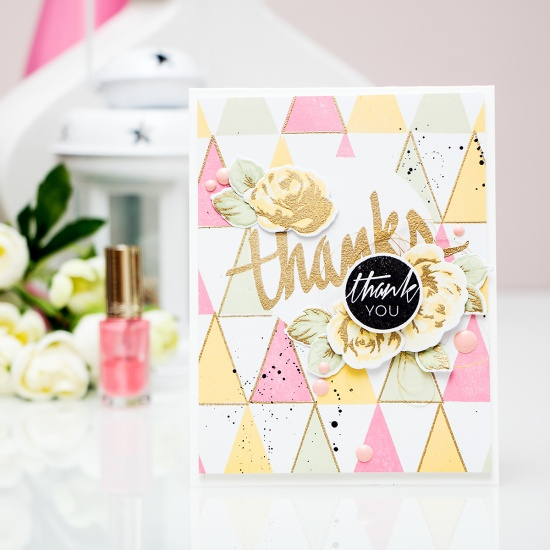 Yana Smakula | Modern Geometric Thank You Card