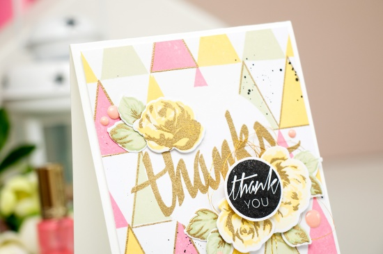Yana Smakula   Modern Geometric Thank You Card