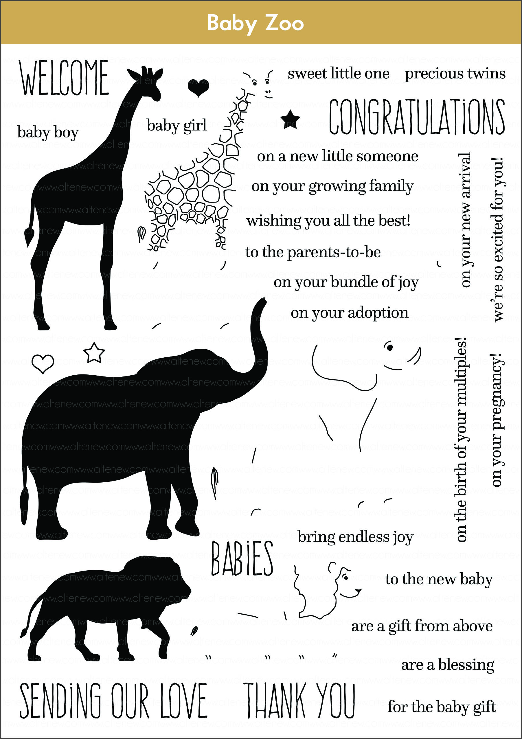 Simple Baby Shower Cards By May Altenew Blog